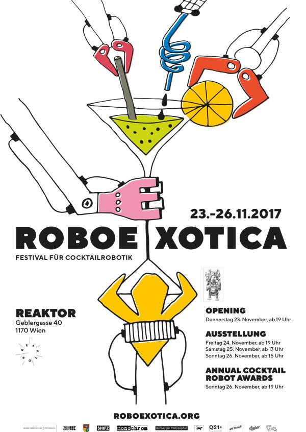 Plakat für die Roboexotica 2017